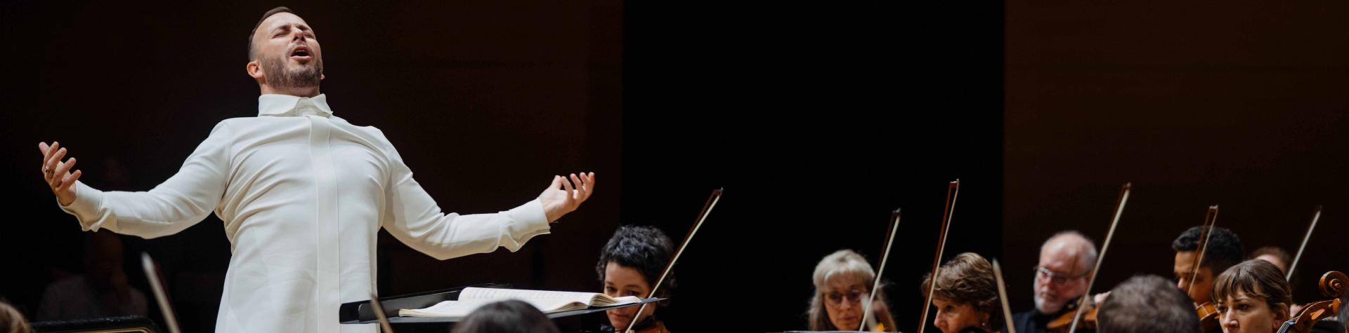 Yannick Nézet-Séguin conducting in Koerner Hall (photo courtesy of Orchestre Métropolitain)